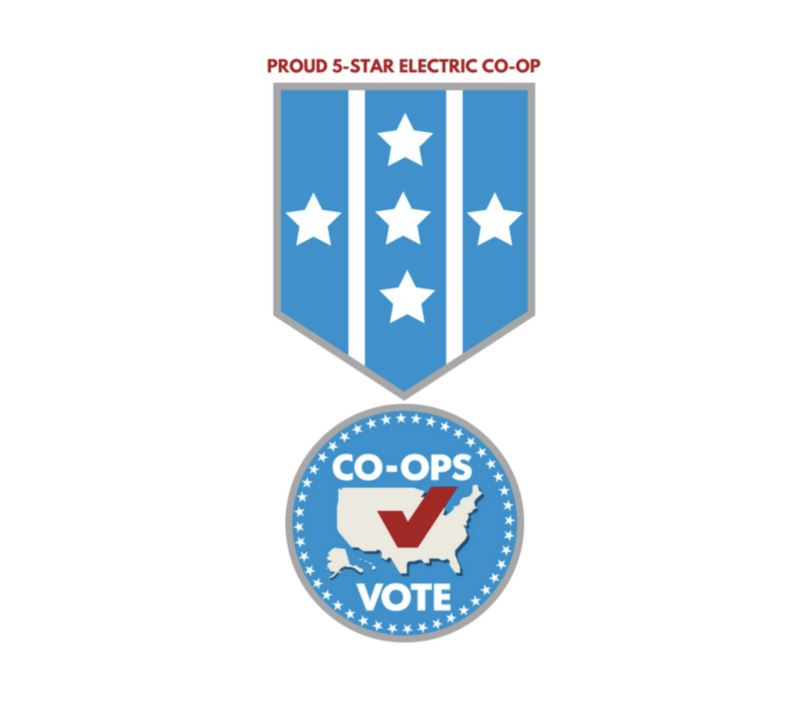 Co-ops Vote 5 Star Logo